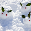 3匹の雪うさぎ